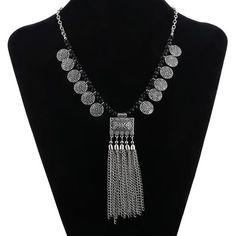Long TV Tassel Necklace
