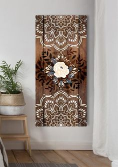 Family Wall Art, Home Wall Art, Deco Boheme Chic, Christian Wall Art, Home Decor Pictures, Large Wall Art, Mandala Design, Painting On Wood, Decoration