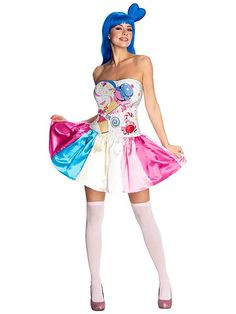 How to dress like Katy Perry in her California Gurls music video. This guide shows how to make a DIY Katy Perry California Gurls Costume and Fancy Dress Halloween Fancy Dress, Adult Halloween, Halloween Costumes For Kids, Family Halloween, Funny Halloween, Halloween Nails, Halloween Ideas, Candy Girls, Celebrity Halloween Costumes