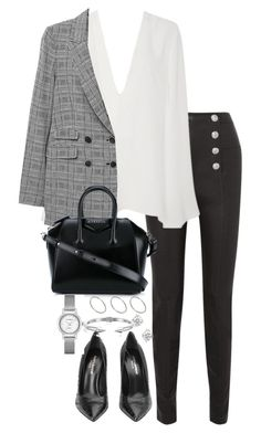 """""""Untitled #5276"""" by theeuropeancloset on Polyvore featuring Balmain, Givenchy, Theory, ASOS and Vita Fede"""