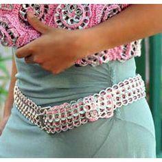 Image detail for -soda pop top belt neide ambrosio crafts this novel belt from pop tops ...