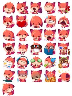 Foxy the Fox Stickers Pack