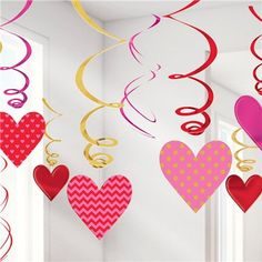 Valentines Hanging Swirls (Pack of ideen basteln Valentines Hanging Swirls (Pack of valentines day decorations, valentines hanging heart, red hea Valentine Crafts For Kids, Valentines Day Decorations, Valentines Day Party, Jill Valentine, Skullgirls Valentine, Saint Valentin Diy, Ideas San Valentin, Valentines Bricolage, Diy And Crafts