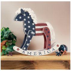 Patriotic Rocking Horse