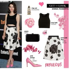 Get The Look: Emma Roberts, created by putricp on Polyvore