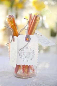 """How sweet of you to join us!"" // Honey Stick Wedding Favors"