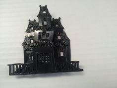 haunted house cake decoration by cakepartystop on Etsy