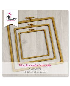 A customiser Scrapbooking Carterie - Trio de carrés à broder Tampons Transparents, Creations, Scrapbooking, Frame, Home Decor, Products, Embroidery, Woodwind Instrument, Picture Frame