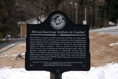 images of historical african american markers by state | African-American Soldiers in Combat