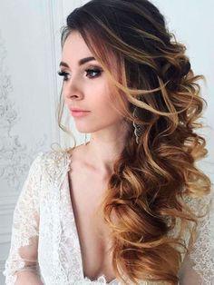 Resultado de imagem para penteados de noiva cabelo solto