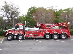 Kauff's Transportation Systems, West Palm Beach FL - Kenworth T800 Twin Steer w/ Century 75 ton rotator