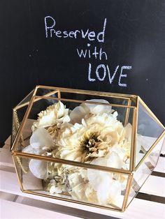 Our primrose terrarium is a sweet way to preserve your wedding flowers. #leighflorist #floralpreservation #bridalflowers #bridalbouquet #terrarium #weddingflowers #whitewedding #njweddingflorist #njbride #phillybride #phillyweddingflorist Custom Shadow Box, Flowers Delivered, Local Florist, Box Design, Preserves, Terrarium, Wedding Flowers, Decorative Boxes, Birthdays