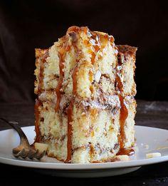 Caramel Apple Cinnamon Cake FoodBlogs.com