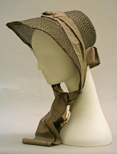 Bonnet. A Bonnet is a hat with a brim that ties under the chin and was typically worn in the 18th century.