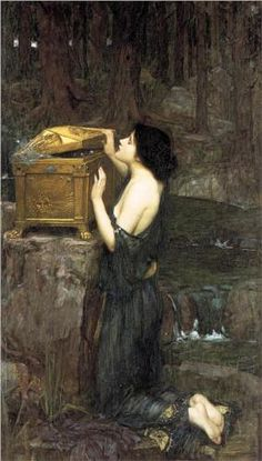 John William Waterhouse. Pandora. He was an early member of The Artists Rifles.