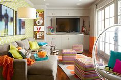 what a fun colorful space