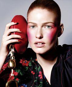 Publication: Harper's Bazaar US February 2015 Model: Louise Parker Photographer: Richard Burbridge Fashion Editor: Robbie Spencer Hair: Tamara McNaughton Make-up: Violette