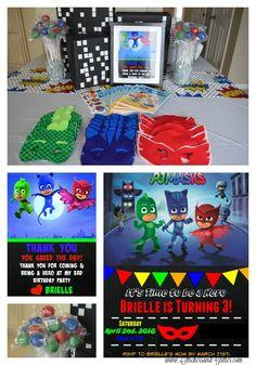 Stickers & Glitter: PJ Masks Birthday Party