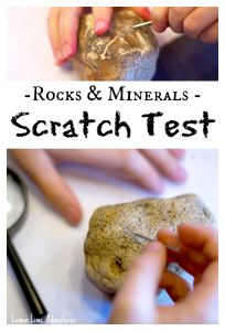 scratch test and video play list about rocks