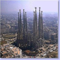 Sagrada Familia, Barcelona, Spain; tied with St. Peter's Basilica for the most amazing church in the world.