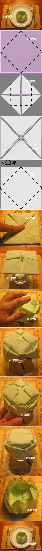 serviette/ dining cloth folding