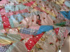 VIBRANT Crazy Quilt, Vintage Cloth Fabrics~
