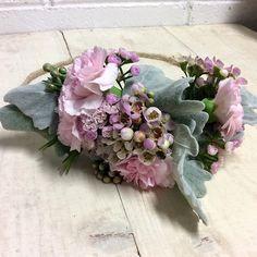 Pretty Flower Crown - Spring Racing Fashion - carnation, flowering wax, dusty miller