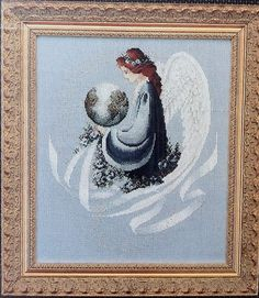 Earth Angel Lavender & Lace Cross Stitch Chart