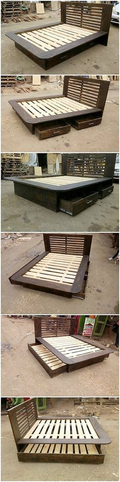 The Best and Easiest DIY Ideas with Recycled Wood Pallets: Let's give your dream home the feel of reality by showing you out with some of the mesmerizing and charming ideas of the old shipping wooden pallets. Pallet Couch, Pallet Beds, Wood Pallet Furniture, Just Miniatures, Headboard Shapes, Rough Wood, Pallet Designs, Pallet Creations, Decoration Piece
