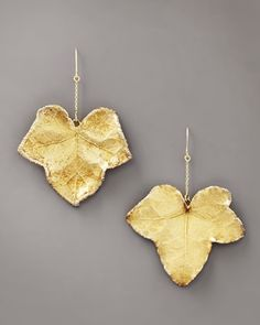 Aurelie Bidermann Ivy Leaf Earrings