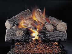 "Gas Logs :: Rasmussen :: Rasmussen Vented Log Sets :: 36 inch :: Rasmussen 36"" Evening Prestige Log Set - Single Face - EPR36"
