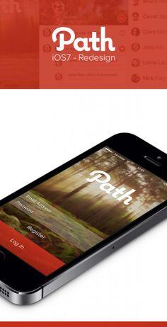 Path iOS7 Redesign par Michael Shanks