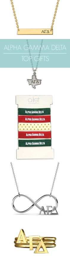 Top Alpha Gamma Delta Gifts for you and your sisters! This season's must-haves for all things AGD // #alphagam www.alistgreek.com