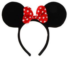 Minnie Mouse Ears with Red Bow