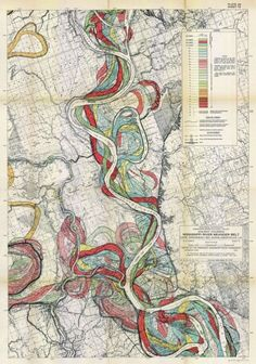 pleasedontsqueezetheshaman:    Vintage Map of the Mississippi River's Meanderings.  (via bioephemera)