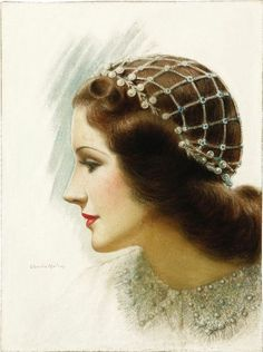 """Norma Shearer as """"Juliet"""" Charles Gates Sheldon. Original illustration for Motion Picture magazine. Vintage Pictures, Vintage Images, Vintage Art, Vintage Ladies, Vintage Woman, Rolf Armstrong, Look Gatsby, Vintage Beauty, Vintage Fashion"""