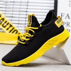 New Mesh Men Sneakers Casual Lace-up Sneakers Breathable No-slip For Male Tennis Flying Weaving Tourist Leisure Sports Shoes Non Slip Sneakers, Casual Sneakers, Casual Shoes, Men Sneakers, Mens Fashion Shoes, Sneakers Fashion, Sport Casual, Men Casual, Deodorize Shoes