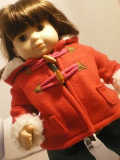 Bitty Twin Bitty Baby Hooded Coat American Girl by fashioned4you, $16.00