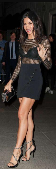 bb870240b795 Who made Jenna Dewan Tatum s black long sleeve net top