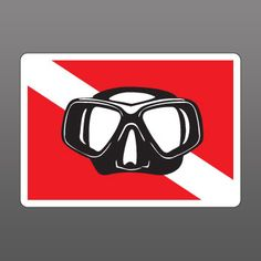 Scuba Diver Mask Sticker Decal