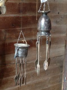 wind chimes from kitchen stuff