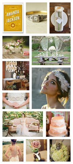 Exactly the combo of styles I'm in love with!!! Rustic Art Deco Wedding Inspiration.