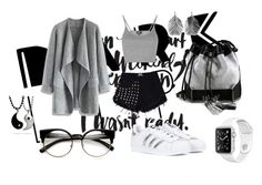 Chicgris by danielamoralesdonoso on Polyvore featuring moda, Topshop, Chicwish, adidas, Carianne Moore and Alex Monroe