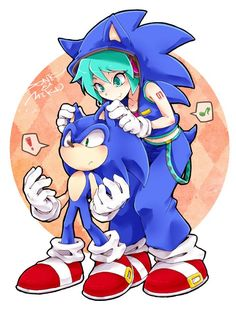 Jajaja Miku disfraza de Sonic (Es lindo)