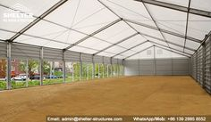 Shelter Equestrian Tent - Indoor Horse Arena - Covered Dressage Arena Construction -4