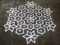 Rangoli designs/Kolam: S.No. 66 :-15-8 pulli kolam - interlaced dots kola...