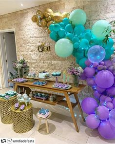 Baby Shower Balloon Decorations, Baby Shower Balloons, Birthday Balloons, Birthday Party Decorations, Balloon Garland, Birthday Celebration, 18th Birthday Party, Safari Party, Baby Party