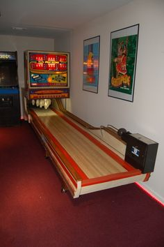 A Mini Bowling Alley In A Basement Of A Regular Home