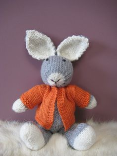 handknitted bunny named Charlie!