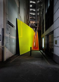 'The Meeting Place' by ASPECT Studios, an architectural installation in Little Hunter Street, Sydney, Australia
